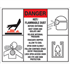 Custom Sized and Printed Safety Signs - (.110 Polyethylene) - Up to 100 sq. inches 100 sq. inches and less - 1