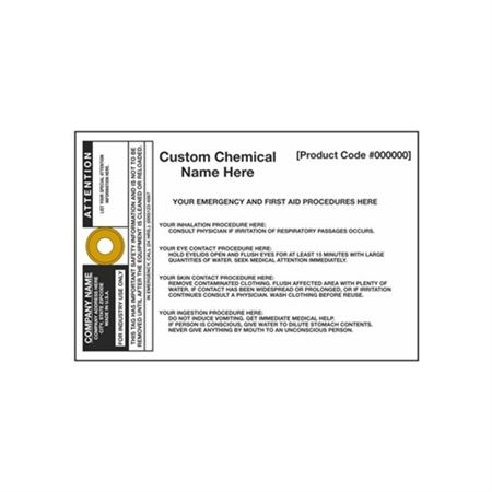 Jumbo Chemical Smart Tags - 6 x 9 inches