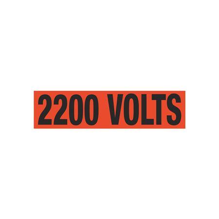 2200 Volts Single Electrical Marker - EM1