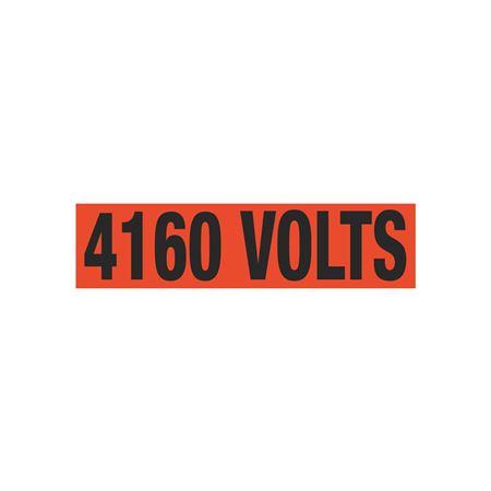 4160 Volts Single Electrical Marker - EM1