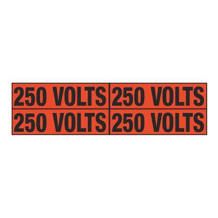 250 Volts Quad Electrical Marker - EM2