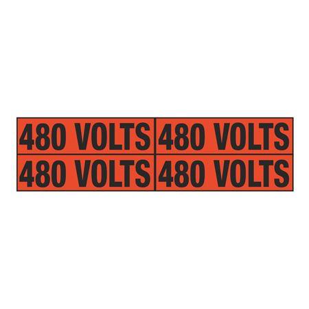 480 Volts Quad Electrical Marker - EM2