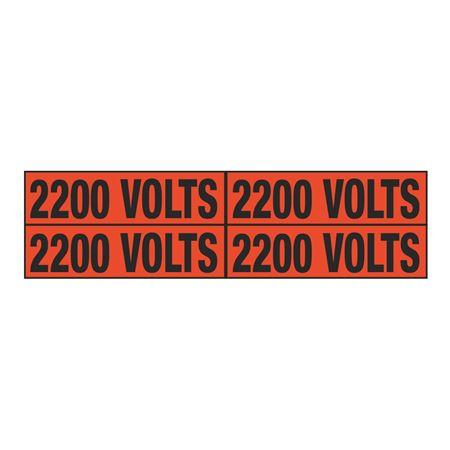 2200 Volts Quad Electrical Marker - EM2