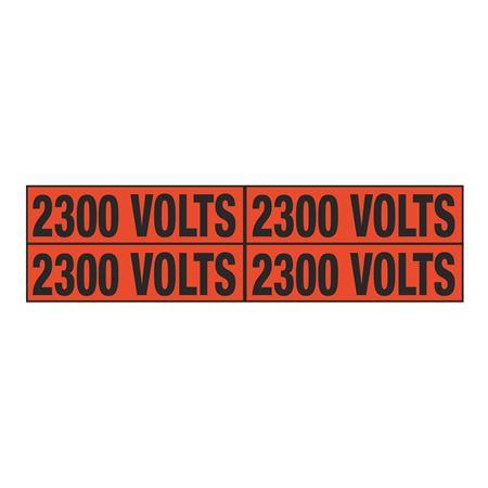 2300 Volts Quad Electrical Marker - EM2