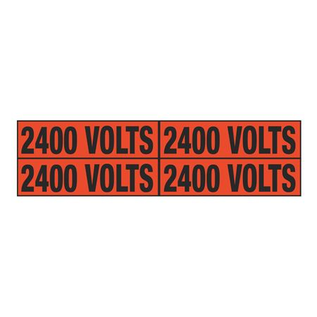 2400 Volts Quad Electrical Marker - EM2