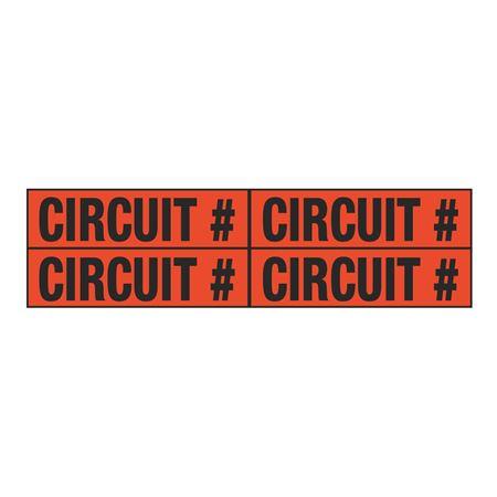 Circuit # Quad Electrical Marker - EM2