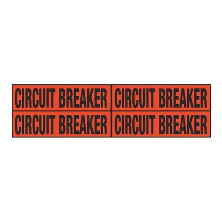 Circuit Breaker Quad Electrical Marker - EM2