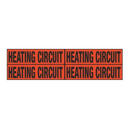 Heating Circuit Quad Electrical Marker - EM2