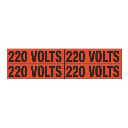 220 Volts Quad Electrical Marker - EM2