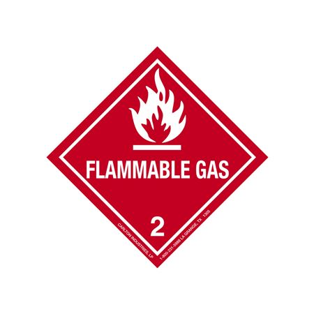 Flammable Gas Shipping Label