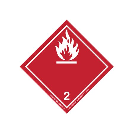 International Wordless Labels - Flammable Gas 2