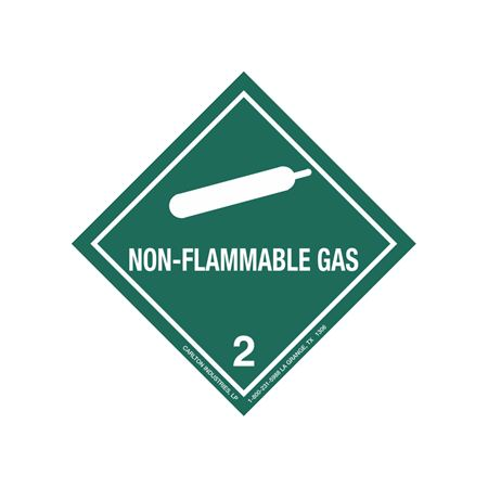 Non-Flammable Gas Shipping Label