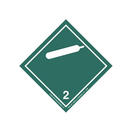 International Wordless Labels - Non Flammable Gas 2