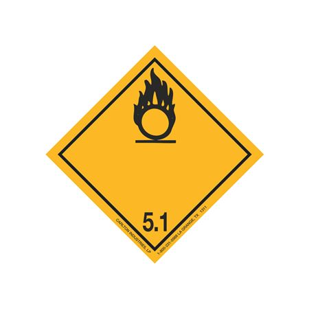 International Wordless Labels - Oxidizer 5.1