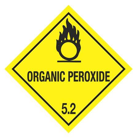 Organic Peroxide Shipping Label (Yellow)