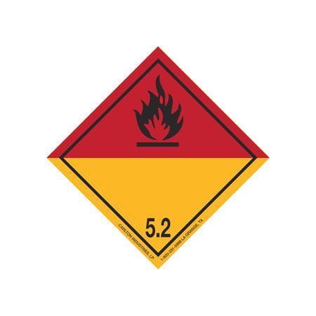International Wordless Labels - Organic Peroxide 5.2