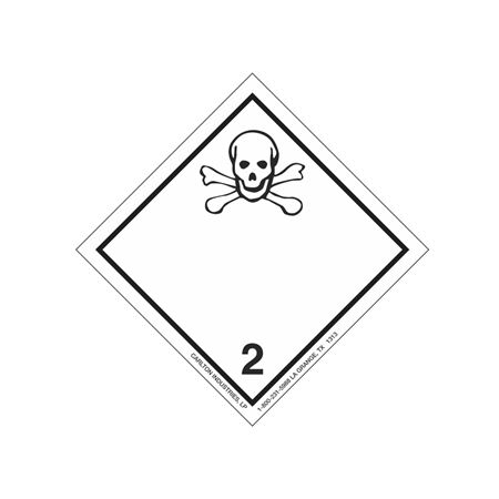 International Wordless Labels - Poison Gas 2