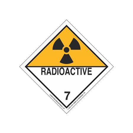 International Wordless Labels - Radioactive Material 7