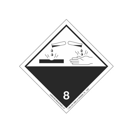 International Wordless Labels - Corrosive 8