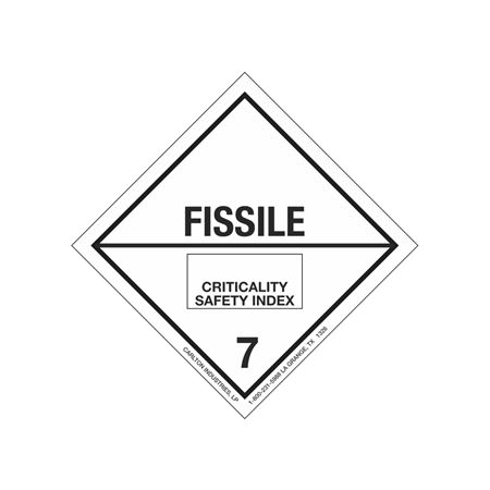 Fissile Shipping Label