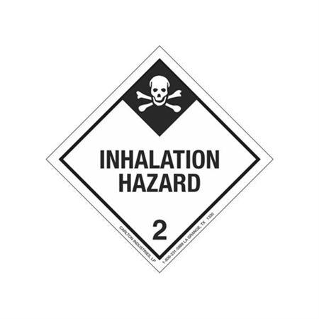 Inhalation Hazard Shipping Label - Class 2 4 x 4