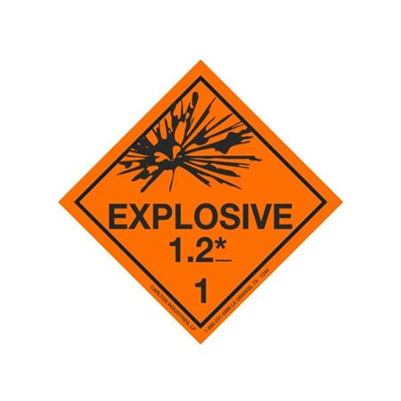 Explosive 1.2 Shipping Labels