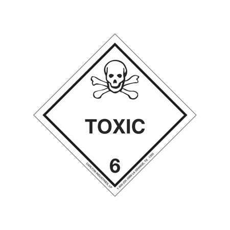 Toxic Shipping Label