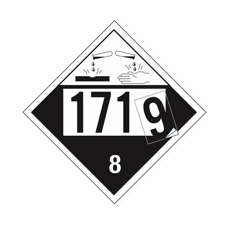 "Removable Vinyl Numbering Kit - 3.5"" Black on Clear"