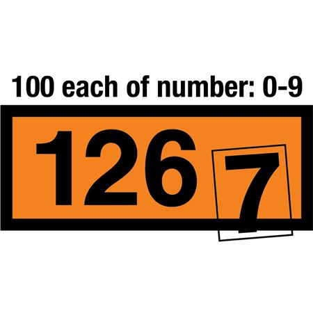 Numbers Kit  for Orange Panels 4 Inch - ALL Numbers