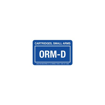 """ORM - D Labels - Cartridges, Small Arms 1 3/8"""" x 2 1/4"""""""