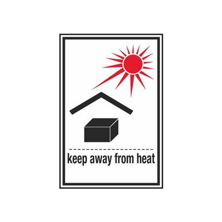 Keep Away From Heat - 3 x 4-1/2