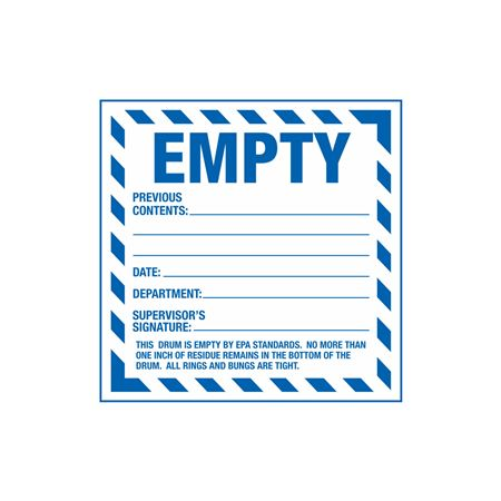 Assorted HazWaste Labels - Empty 6 x 6