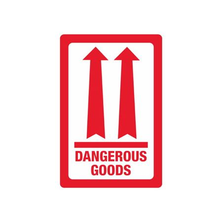 Red Double Arrow - Dangerous Goods - Small - 3 x 4 1/2