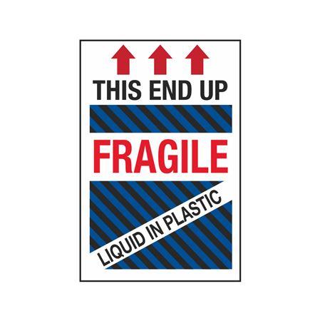This End Up - Fragile - Liquid in Plastic - 4 x 6