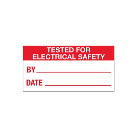 All Weather Tested for Electrical Safety Decal - 1 x 2
