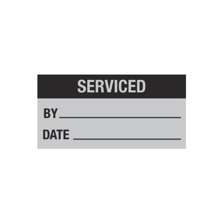 Maintenance Decal - Serviced By/Date - 1 x 2