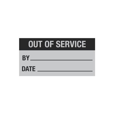 All Weather Out of Service Decal -1 x 2 in.