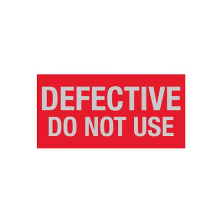 All Weather Defective Do Not Use Decal - 1 x 2 in.