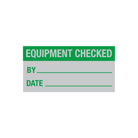 All Weather Equipment Checked Decal - 1 x 2