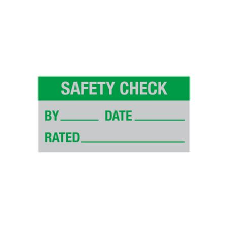 All Weather Safety Check Decal - 1 x 2