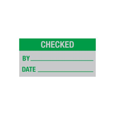 All Weather Calibration Decals (Maintenance) - Checked By/Date - 1 x 2