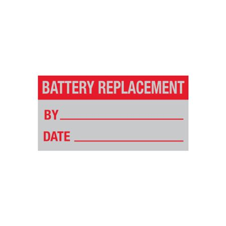 All Weather Battery Replacement Decal - 1 x 2