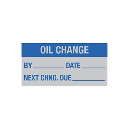 Maintenance Decal - Oil Change By/Date/Next - 1 x 2