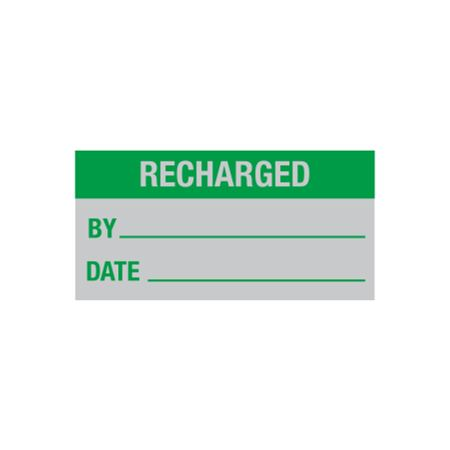 All Weather Calibration Decals (Maintenance) - Recharged By/Date - 1 x 2