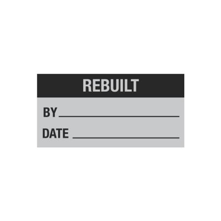 All Weather Calibration Decals (Maintenance) - Rebuilt By/Date - 1 x 2