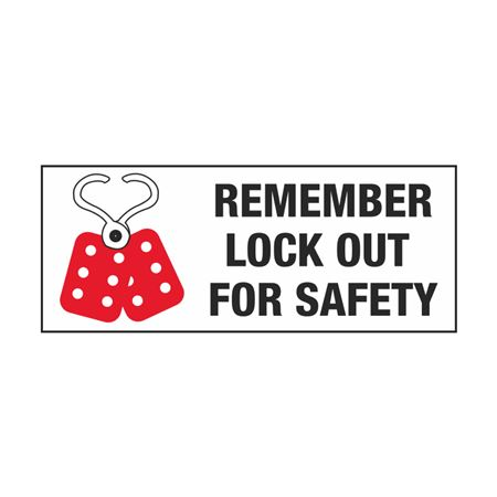 Electrical Lockout Decals - Remember Lockout For Safety 2 x 5