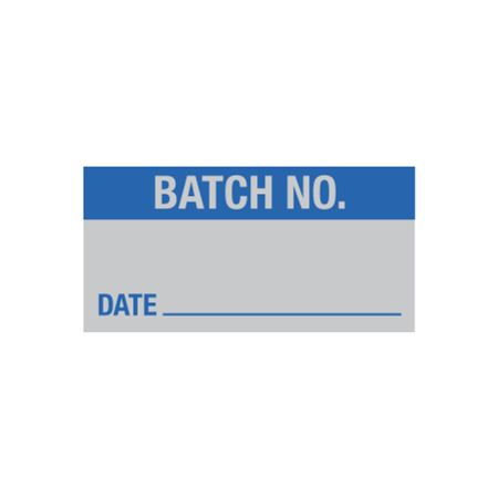 All Weather Calibration Decals (Inventory) - Batch No. Date - 1 x 2