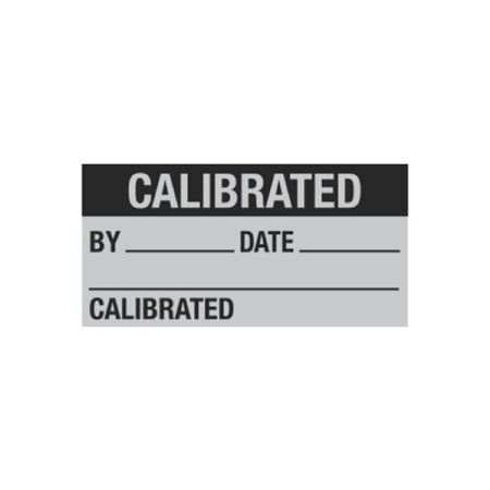 All Weather Calibration Decals-Calibrated By/Date-1x2