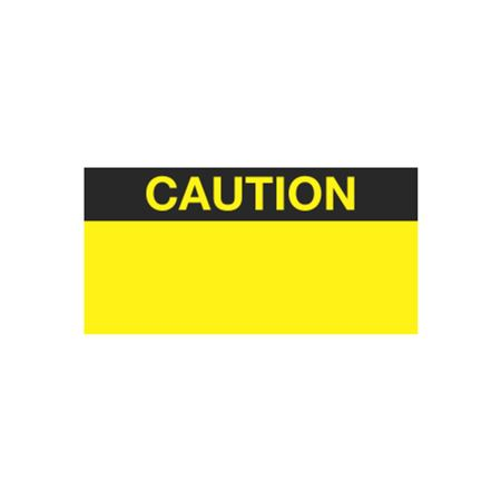 All Weather Calibration Decals (Miscellaneous) - Caution 1 x 2