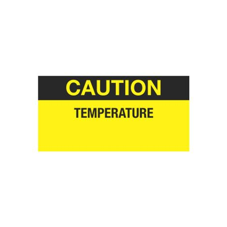 Quality Control Decal - Caution Temperature - 1 x 2